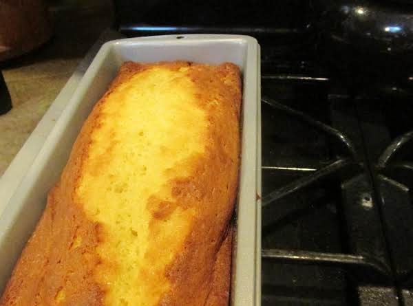 Mama's Southern Sweetbread Made In A Long Loaf Pan. Can Be Served With Fresh Fruit & Topped With Whipped Topping.