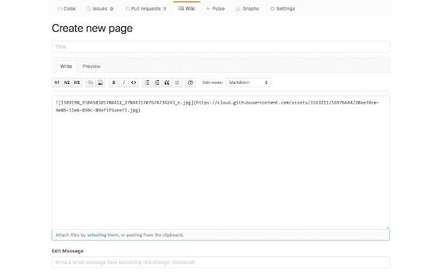 Github Wiki File Uploader