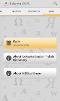Screenshot of iLeksyka English-Polish Trial