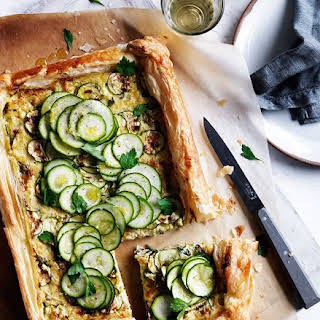 Zucchini and Gruyère galette.
