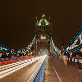 The London tower bridge by George Papapostolou - City,  Street & Park  Night ( george papapostolou, london, tower bridge, travel, nikon )