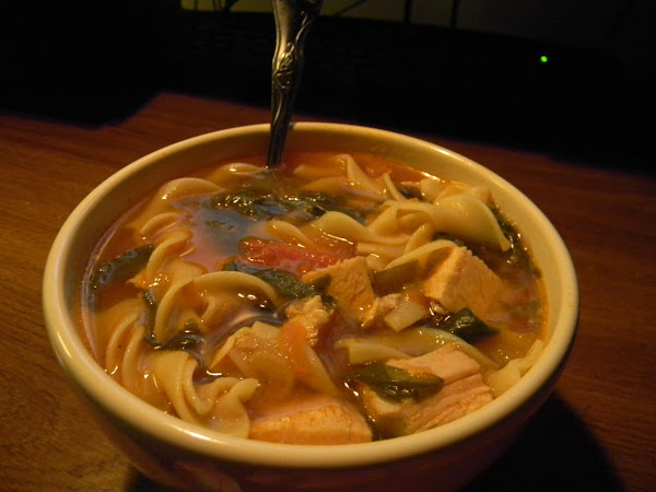 Homemade Chicken Noodle Soup Italian Style!!! Recipe