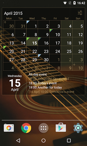 Calendar Widget: Month+Agenda FULL v1.15.1