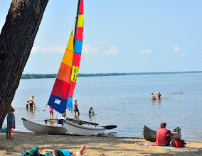 Photo: Sail away at Sand Bar State Park by Julia Maille