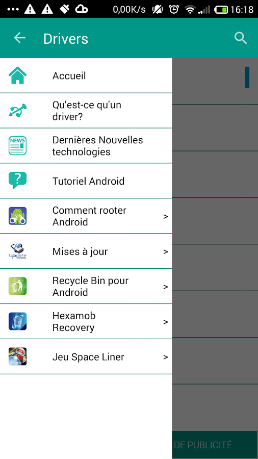 USB Drivers for Android – Capture d'écran