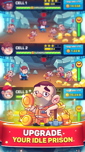 Download Idle Prison Tycoon: Gold Miner Clicker Game MOD APK 1