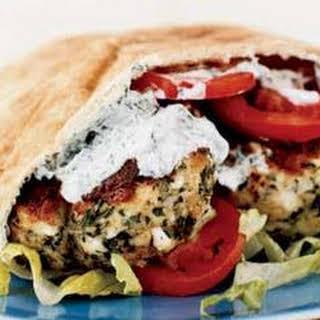 Greek Chicken Burgers.