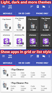 AppMgr III (App 2 SD, Hide and Freeze apps) Screenshot