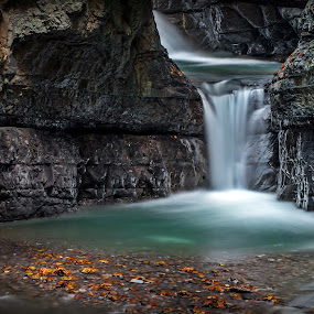 Waterfall by Zoran Rudec - Landscapes Waterscapes ( autum, waterfall, canyon )