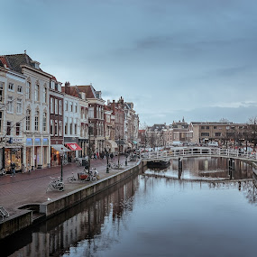 Leiden in the rain by Rob Menting - City,  Street & Park  Historic Districts ( leiden, canon, eos, building, zuid-holland, 70d, art, architecture, netherlands, canon eos 70d )