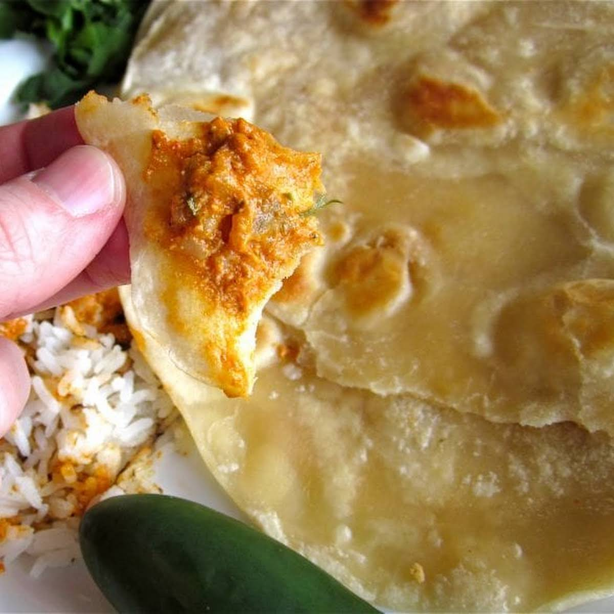Roti (Buttery Indian Flatbread)