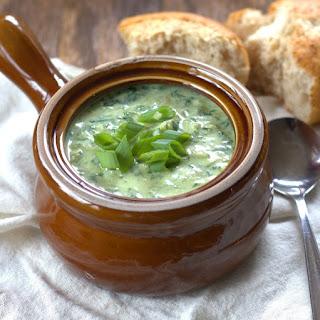 Vegan Spinach & Artichoke Soup
