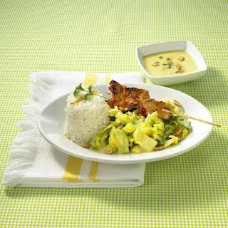 Pork Satay with Cabbage.