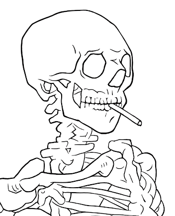 Free Printable Skull Coloring Pages For Kids | Skull coloring ... | 435x352