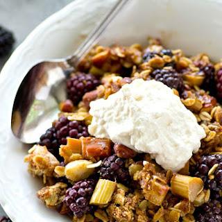 Blackberry Rhubarb Almond Crumble