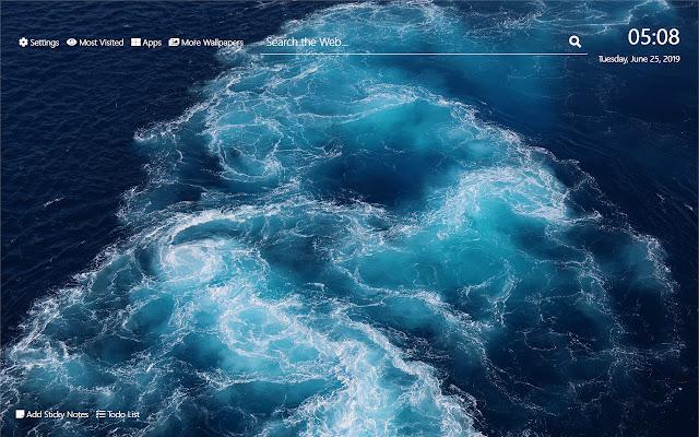 Ocean Waves Wallpaper HD New Tab Theme©