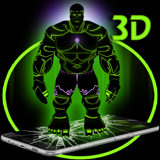 Green Giant Hero 3D Theme