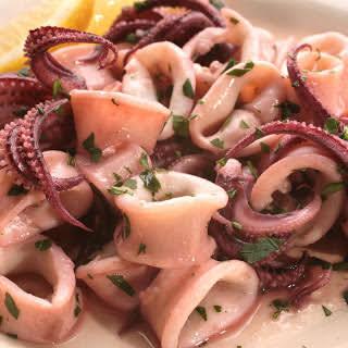 Sautéed Calamari with Parsley and Garlic.