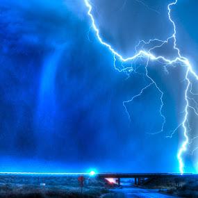 Idaho Lightning by Gerrit Gulden - Landscapes Weather ( clouds, lightning, hdr, thunderstorm, weather )