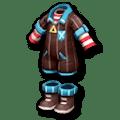 黒いストライプジャンプスーツ
