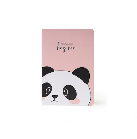 Anteckningsbok Panda - medium
