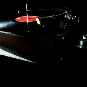 RETRO by Mahesh Thiru - Artistic Objects Other Objects ( music, streo, red, silver, retro, light, black, disc )