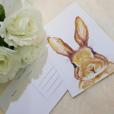 Postcard Ms. Bunny