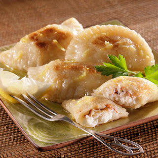 Crab and Idaho® Potato Pierogies.