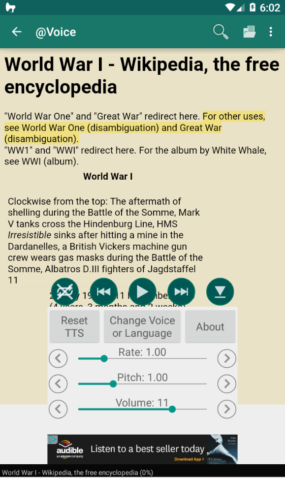 @Voice Aloud Reader Screenshot 1