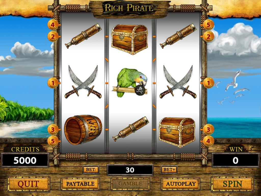 Rich Pirates Slot Machine - Free to Play Demo Version