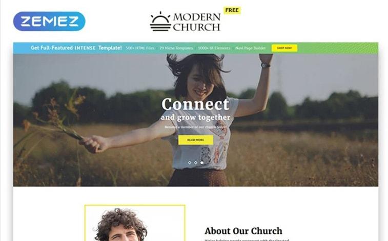 лучший бесплатный ботстрап тема шаблон веб-сайт церковь религиозная