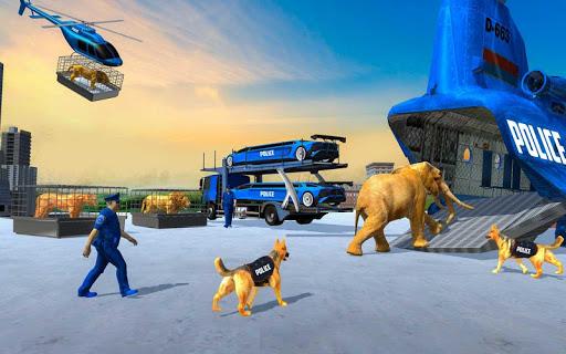 US Police Train Transporter Truck Robot Stunt Game 1.4 screenshots 9