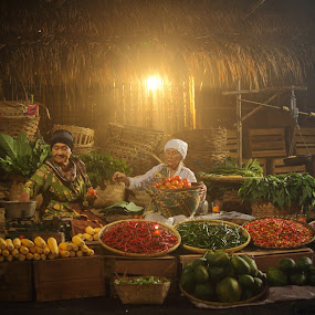 At The Market by Steven Tessy - People Portraits of Women