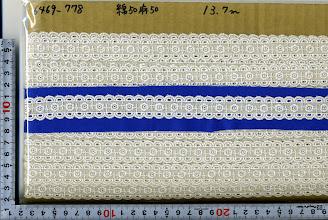 Photo: №6469-138(778) 綿50麻50レース:巾21mm