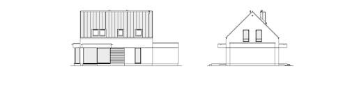 Przytulny 2 - Elewacja tylna i lewa