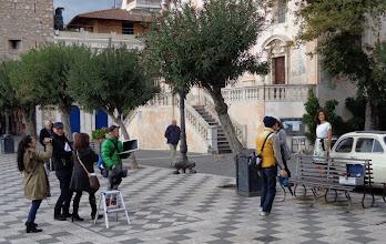 Photo: Fashion photo-shoot, piazza Sant Agostino, Taormina