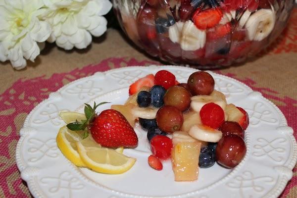 The Best Glazed Fruit Salad! Recipe