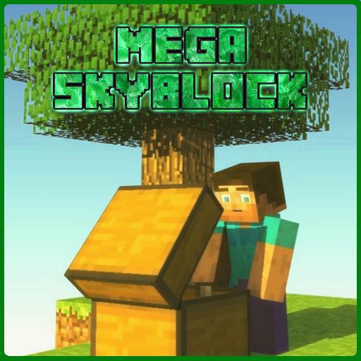 MAP Mega Skyblock for MCPE