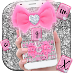 Pink Glitter Bow Shining Keyboard Theme Icon