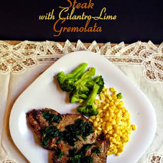 Steak with Cilantro-Lime Gremolata.