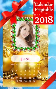 Calendar Printable 2018 - náhled