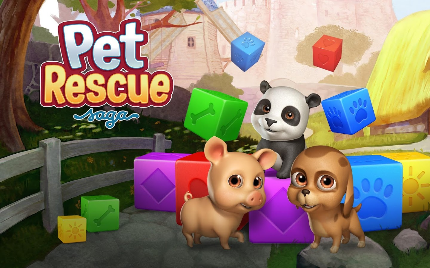 Pet Rescue Saga: captura de pantalla