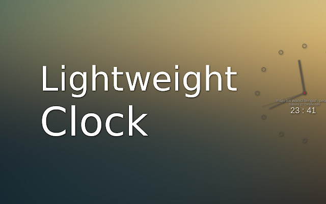 Lightweight Clock for New Tab
