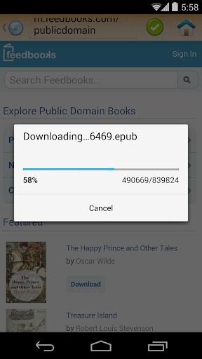 ePub Reader for Android 2.1.2 screenshots 7