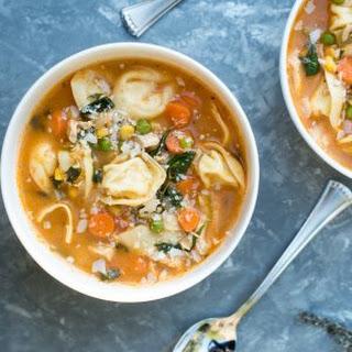 Chicken Vegetable Tortellini Soup.