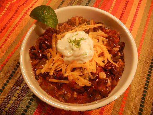 Spicy Southwestern Black Bean Chili W/lime Scented Recipe