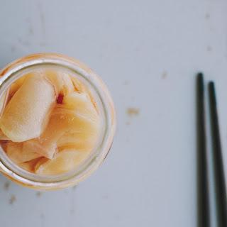 Homemade Pickled Ginger.