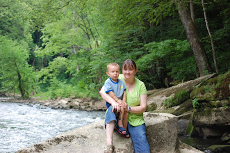 Photo: Wes and Mom along a creek somewhere