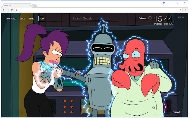Futurama Wallpaper HD New Tab Themes