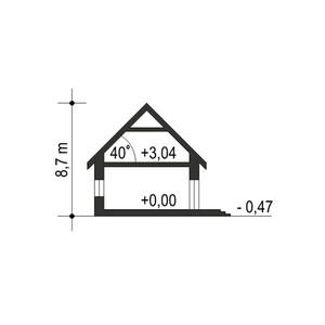 Dom Dla Ciebie 1 w4 z garażem 1-st. A - Przekrój